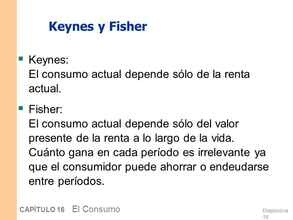 Diapositiva 17 CAPÍTULO 16 El Consumo Cómo responde C a cambios en Y Un aumento en Y 1 ó Y 2 desplaza la restricción presupuestaria hacia afuera C1C1