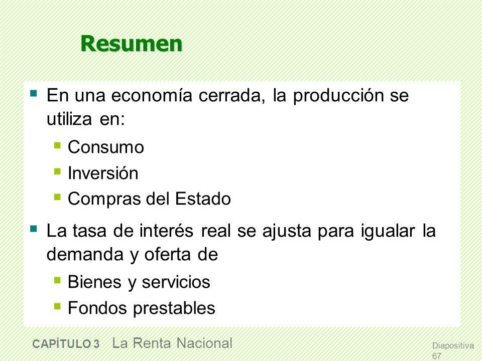 Resumen La producción total viene determinada por Las cantidades de capital y trabajo de la economía El nivel de tecnología Las empresas competitivas