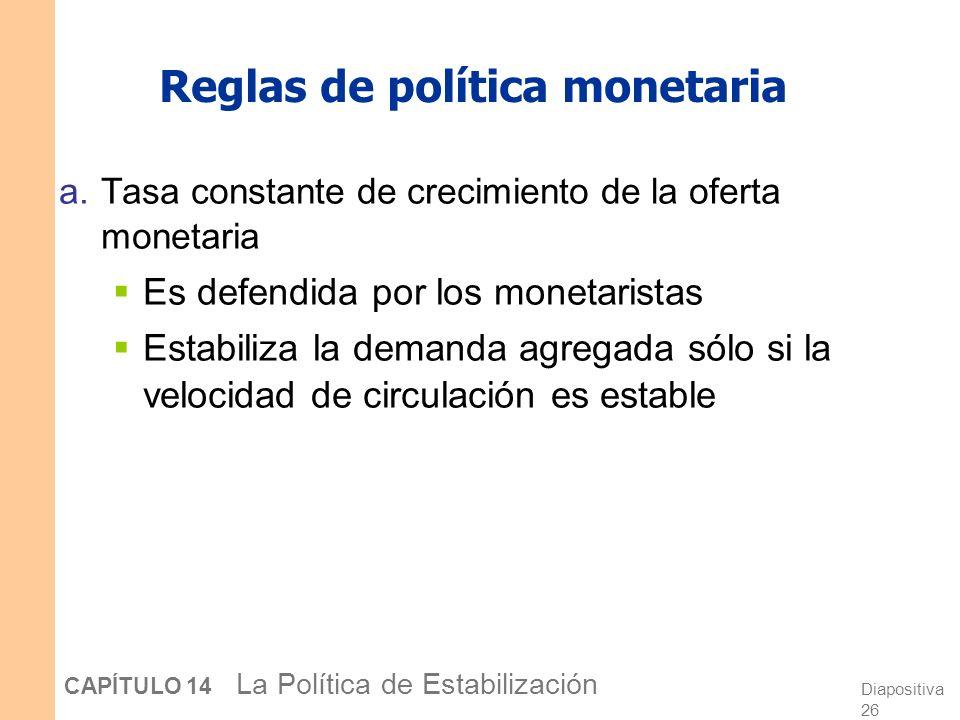 Diapositiva 25 CAPÍTULO 14 La Política de Estabilización Ejemplos de inconsistencia temporal 3. Se brinda ayuda a los países pobres a cambio de la pro