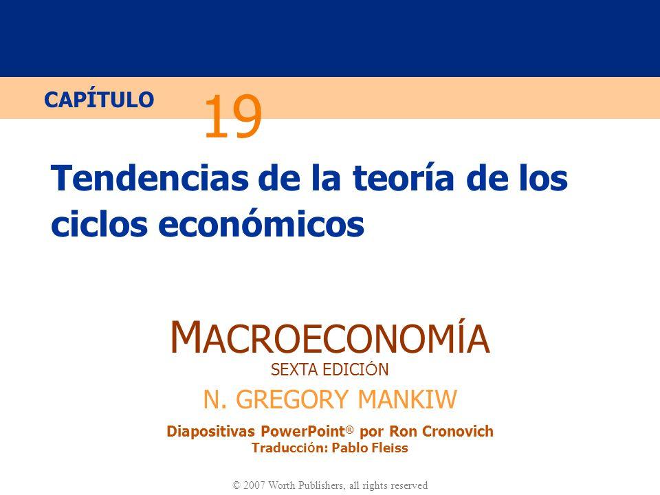 Diapositiva 10 CAPÍTULO 19 Teoría de las Fluctuaciones Económicas 2.