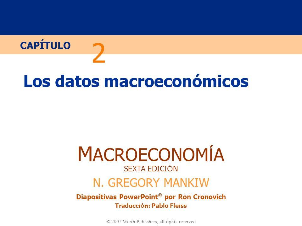 Diapositiva 30 CAPÍTULO 2 Los datos macroeconómicos PIB nominal y real en EE.UU.