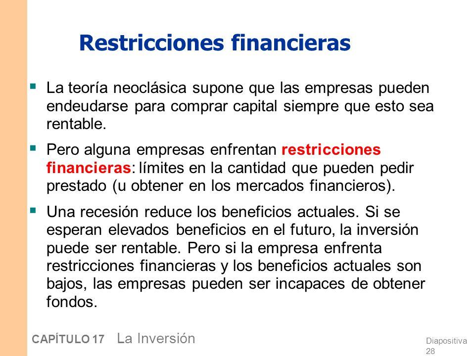 Diapositiva 27 CAPÍTULO 17 La Inversión Visiones alternativas de la bolsa de valores: el concurso de belleza de Keynes Ambas visiones persisten. Exist