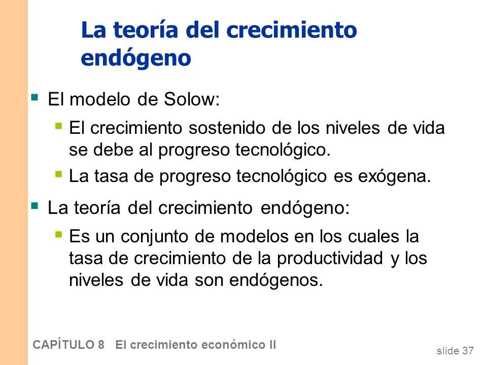 slide 36 CAPÍTULO 8 El crecimiento económico II CASO PRÁCTICO: La tecnología de la información y la Nueva Economía Aparentemente, la revolución de los