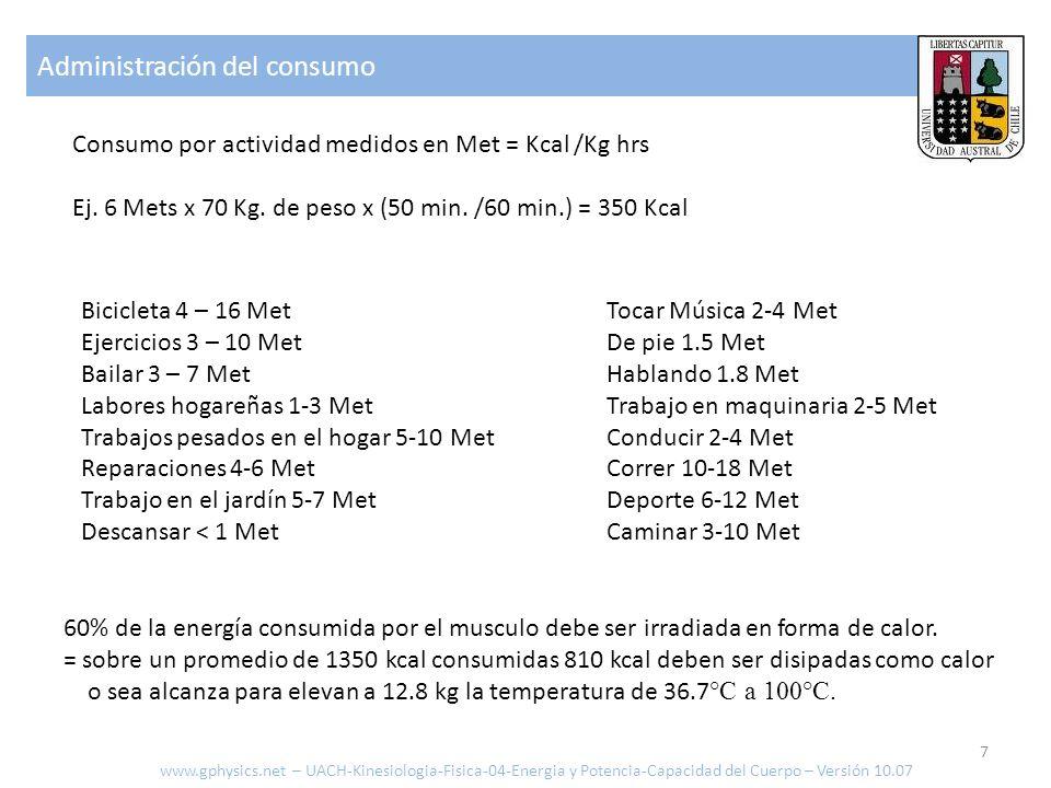 Conducción de calor www.gphysics.net – UACH-Fisica-en-la-Mediciona-06-Termodinamica-Version-04.09 Calor transportado [J o cal] Conductividad térmica [J/msK o kcal/m hrs K = 1.163 J/msK] Sección del conductor [m2] Tiempo transcurrido [s o hrs] Largo del conductor [m] Diferencia de temperatura [°K o °C] Δ Q = 0.5 kcal/m hrs K 0.01 m 2 1 hr 3 K/0.8 m = 0.01875 kcal -> Conducción por una pierna de largo 0.8 m, sección 0.01 m2, con una diferencia de 3 grados, durante una hora y conductividad de 0.5 kcal/m hrs K: no es un mecanismo eficiente 8