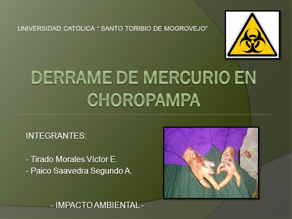 INTEGRANTES: - Tirado Morales Víctor E. - Paico Saavedra Segundo A. - IMPACTO AMBIENTAL - UNIVERSIDAD CATÓLICA SANTO TORIBIO DE MOGROVEJO