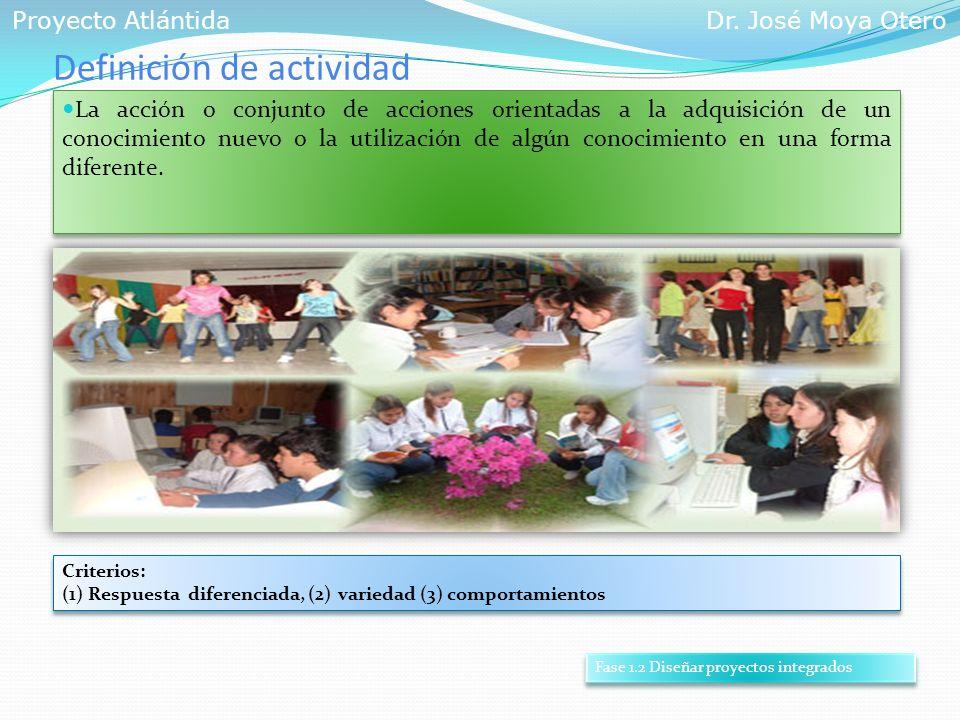 Definición de actividad La acción o conjunto de acciones orientadas a la adquisición de un conocimiento nuevo o la utilización de algún conocimiento e