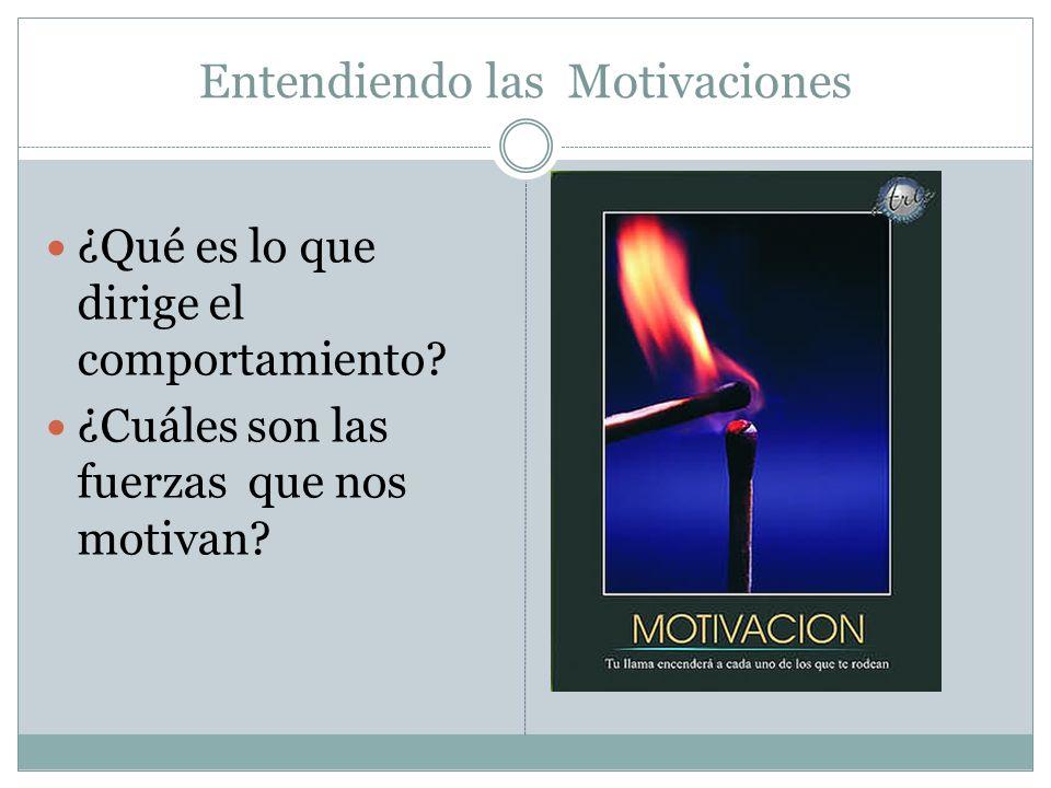 Entendiendo las Motivaciones ¿Qué es lo que dirige el comportamiento? ¿Cuáles son las fuerzas que nos motivan?