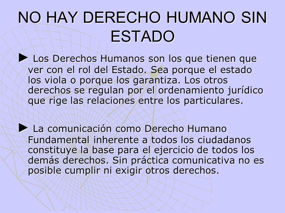 Comunicación y Derechos Humanos A modo de conclusiones Para la reducción de la vulnerabilidad es esencial la acción del Estado.