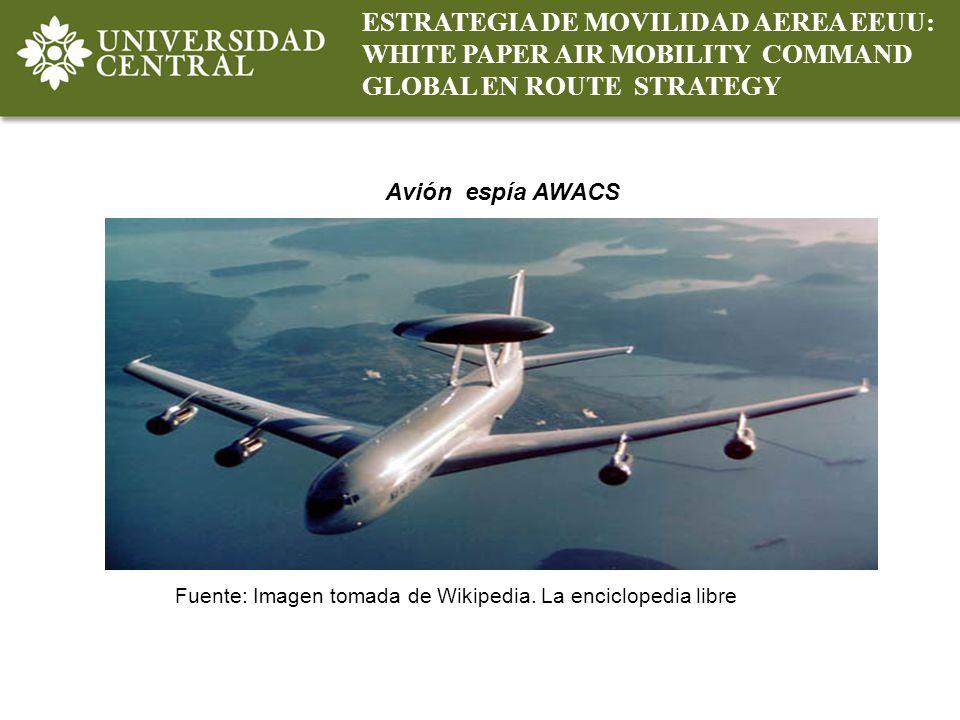 ESTRATEGIA DE MOVILIDAD AEREA EEUU: WHITE PAPER AIR MOBILITY COMMAND GLOBAL EN ROUTE STRATEGY Fuente: Imagen tomada de Wikipedia. La enciclopedia libr