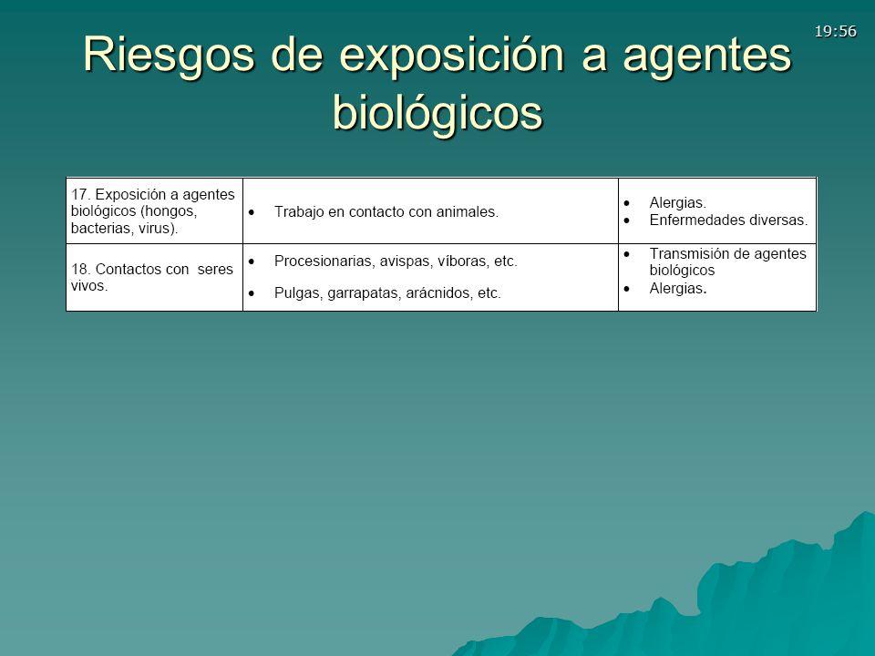 19:56 Riesgos de exposición a agentes biológicos