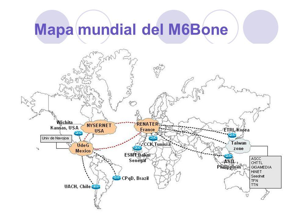 Mapa mundial del M6Bone