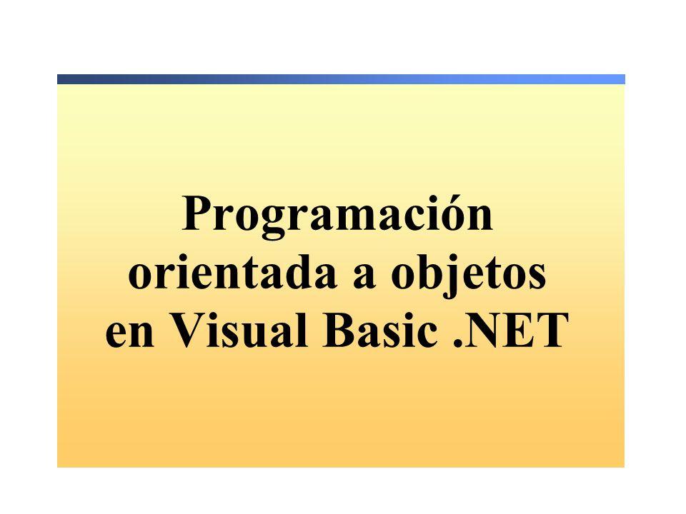 Programación orientada a objetos en Visual Basic.NET
