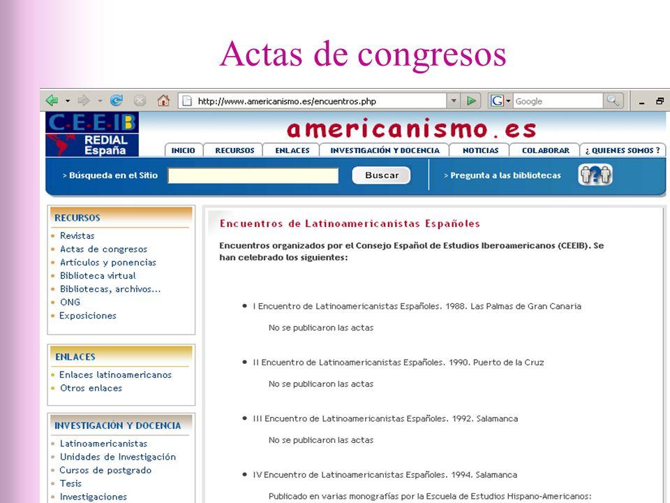 Actas de congresos