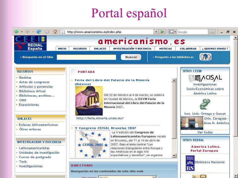 Portal español