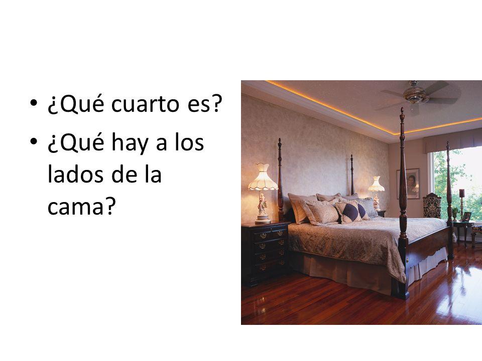 ¿Qué cuarto es? ¿Qué hay a los lados de la cama?