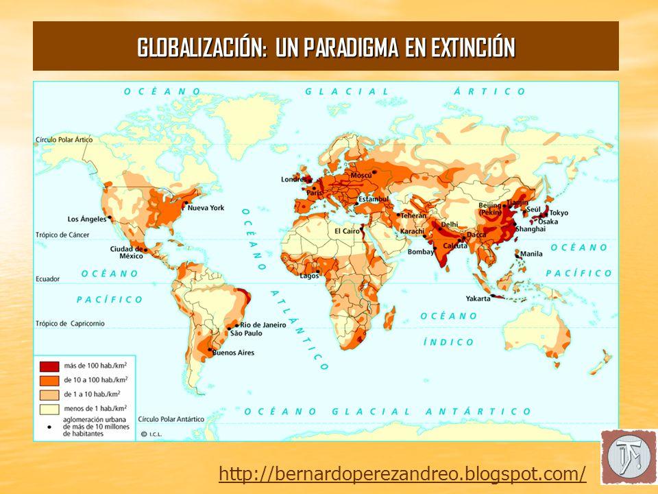 Crisis Espacial: Densidad de Población. http://bernardoperezandreo.blogspot.com/ GLOBALIZACIÓN: UN PARADIGMA EN EXTINCIÓN