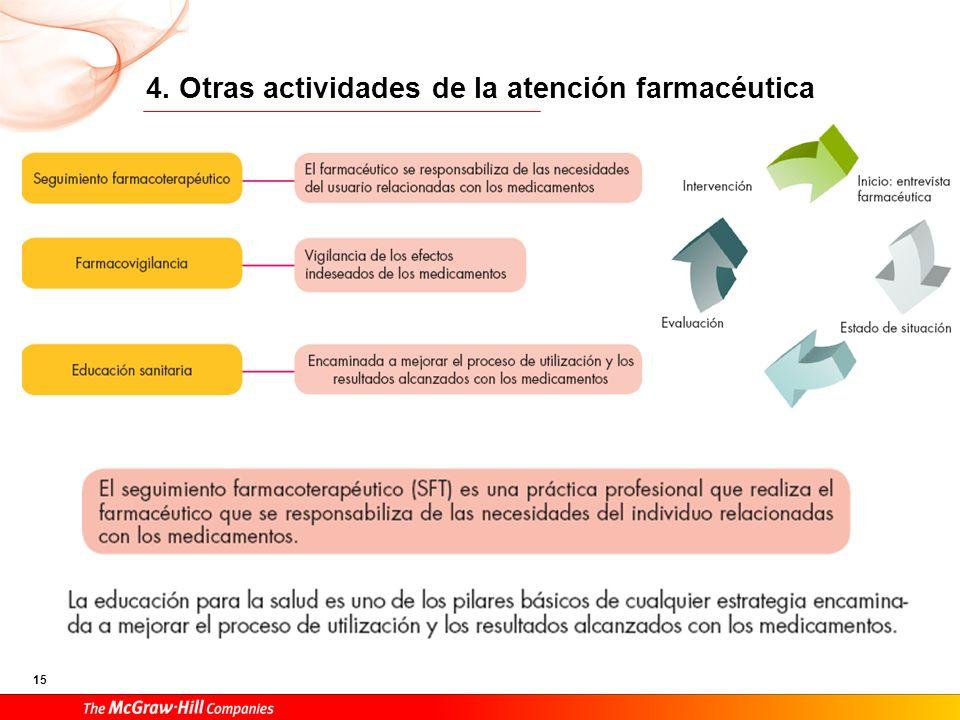15 4. Otras actividades de la atención farmacéutica