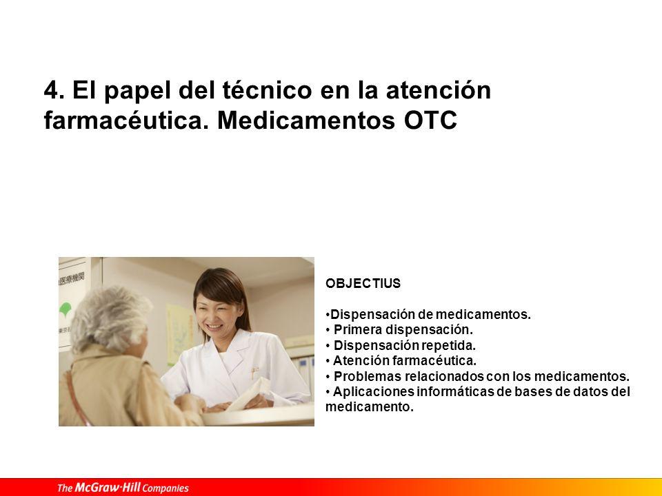 4. El papel del técnico en la atención farmacéutica.