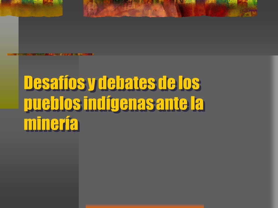 Desafíos y debates de los pueblos indígenas ante la minería