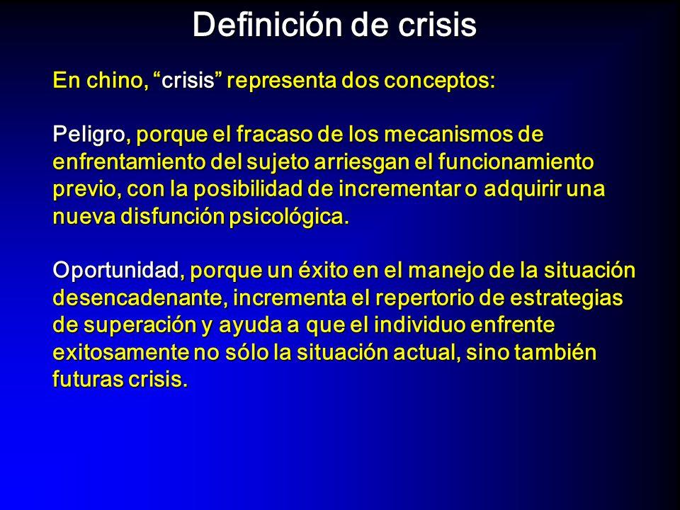 – Una persona en crisis está en estado de permeabilidad y de movimiento interno, y son posibles grandes cambios con pequeñas intervenciones, que no serían posibles en períodos de mayor estabilidad.