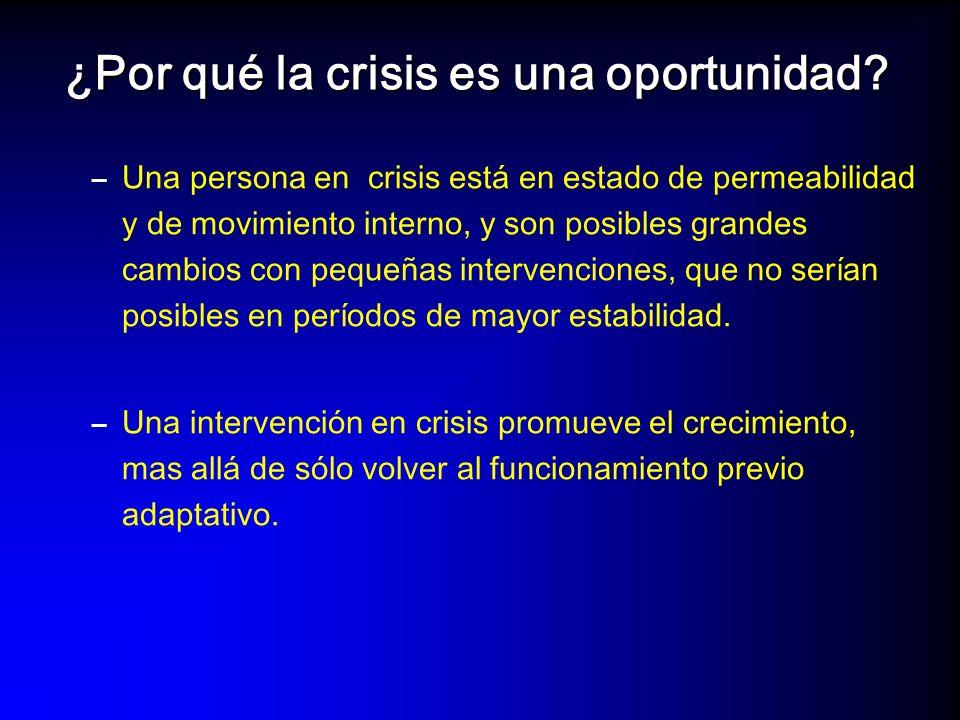 Evolución de una crisis Evento o estresordesencadenante