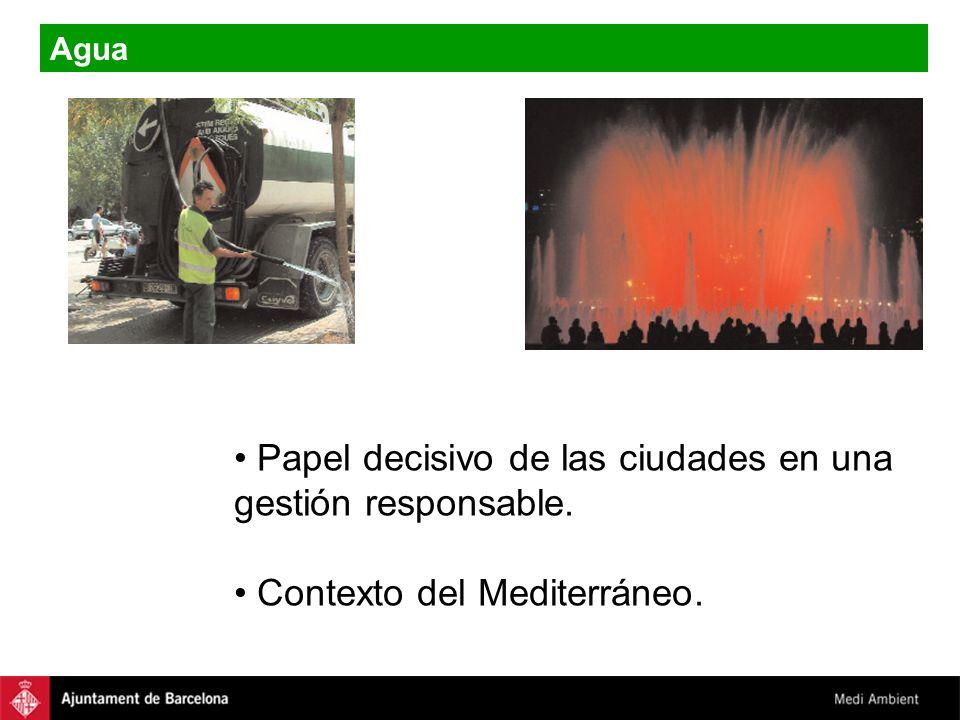 Agua Papel decisivo de las ciudades en una gestión responsable. Contexto del Mediterráneo.