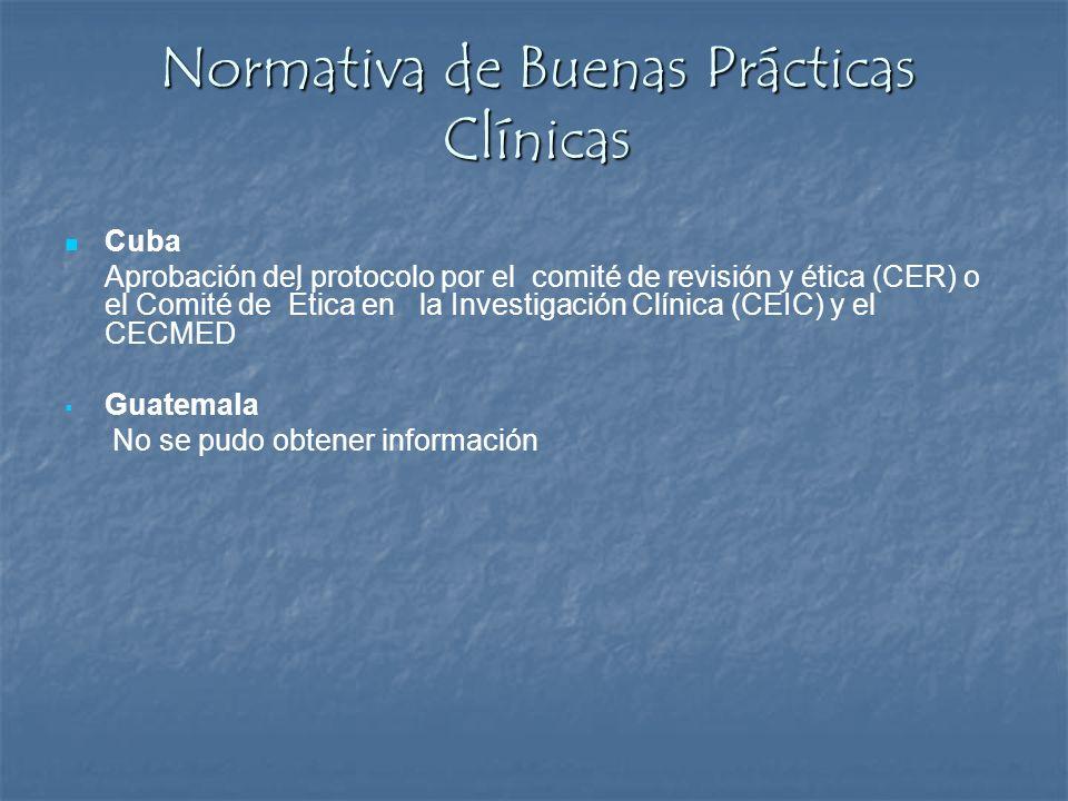 Normativa de Buenas Prácticas Clínicas Cuba Aprobación del protocolo por el comité de revisión y ética (CER) o el Comité de Ética en la Investigación