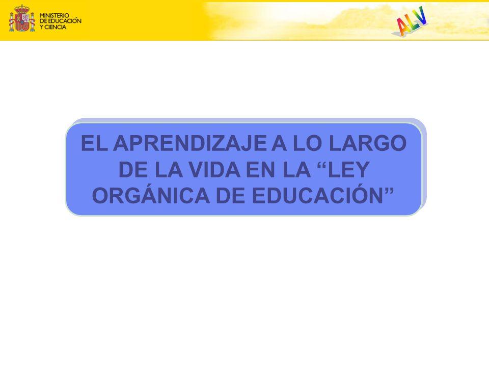 EL APRENDIZAJE A LO LARGO DE LA VIDA EN LA LEY ORGÁNICA DE EDUCACIÓN
