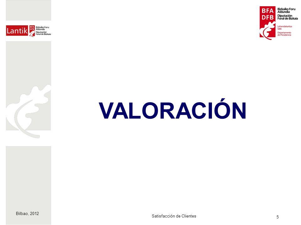 Bilbao, 2012 5 Satisfacción de Clientes VALORACIÓN