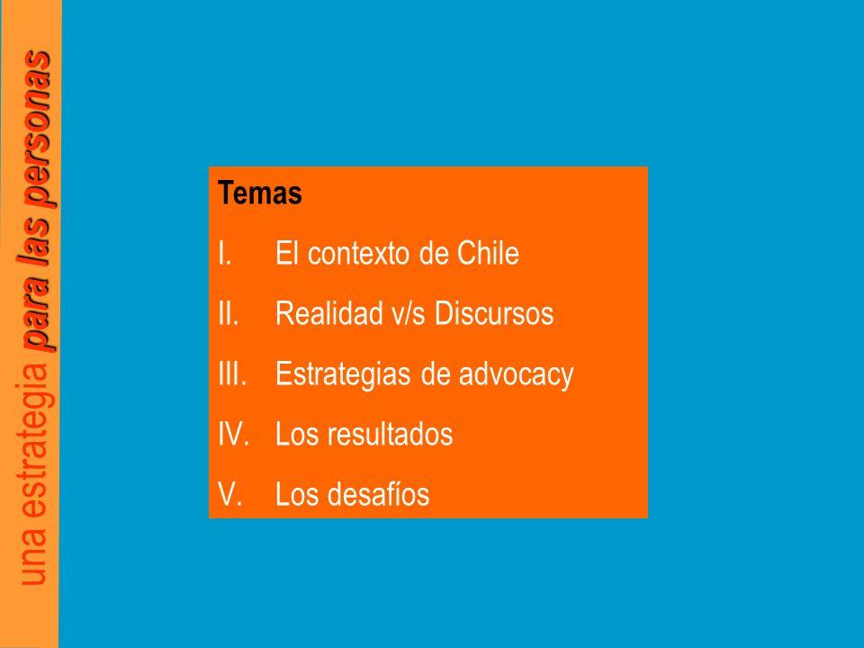para las personas una estrategia para las personas El contexto de Chile I