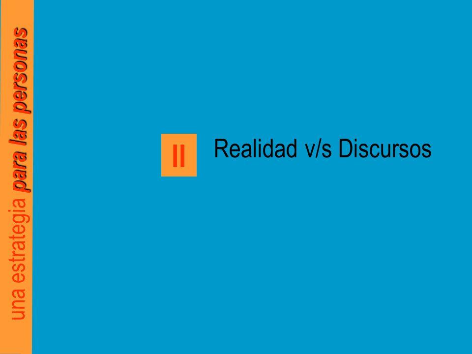 para las personas una estrategia para las personas Realidad v/s Discursos II