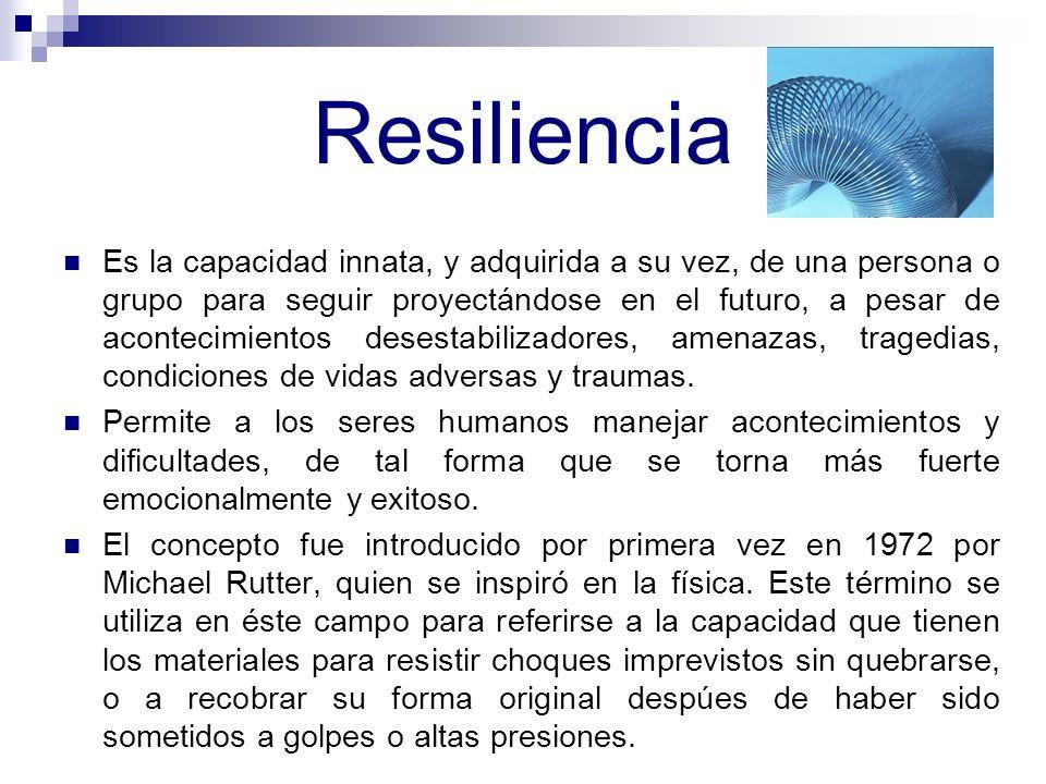 Investigaciones Sobre Resiliencia en Primates Humanos Carla M. Matos Manuel Fuentes Paola M. Castro Sharon D. Estrada Valerie Vargas Psicología 3005 S