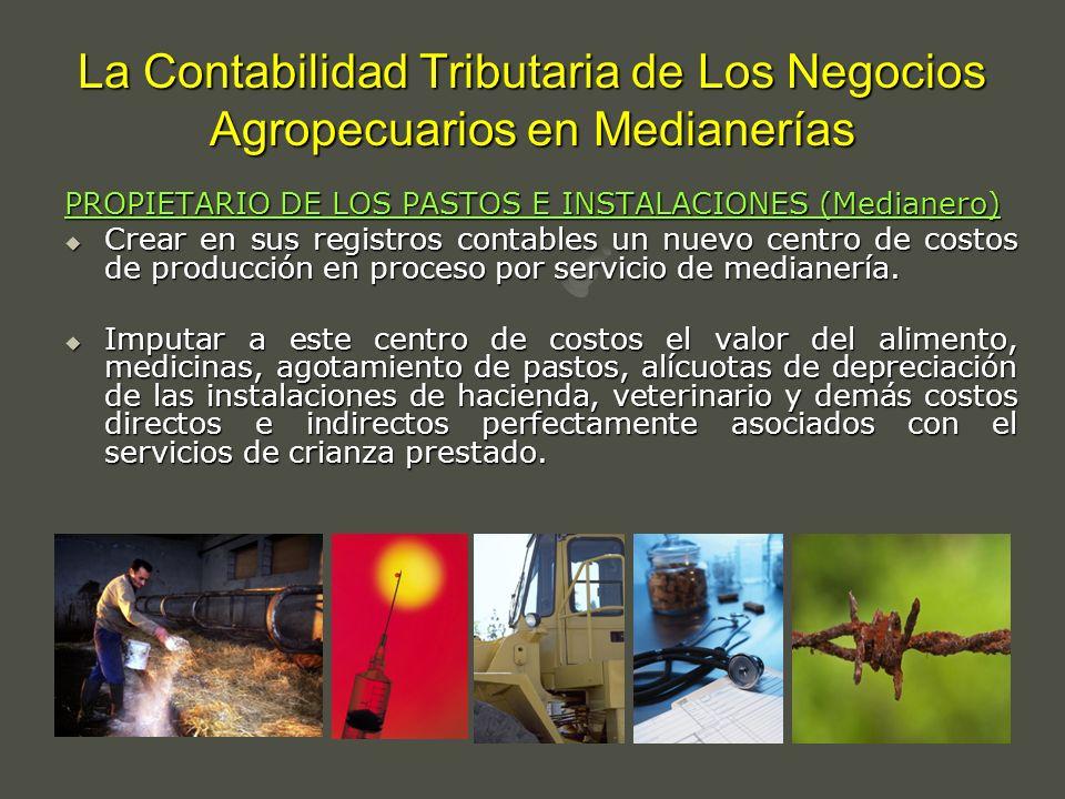 La Contabilidad Tributaria de Los Negocios Agropecuarios en Medianerías PROPIETARIO DE LOS PASTOS E INSTALACIONES (Medianero) Crear en sus registros c