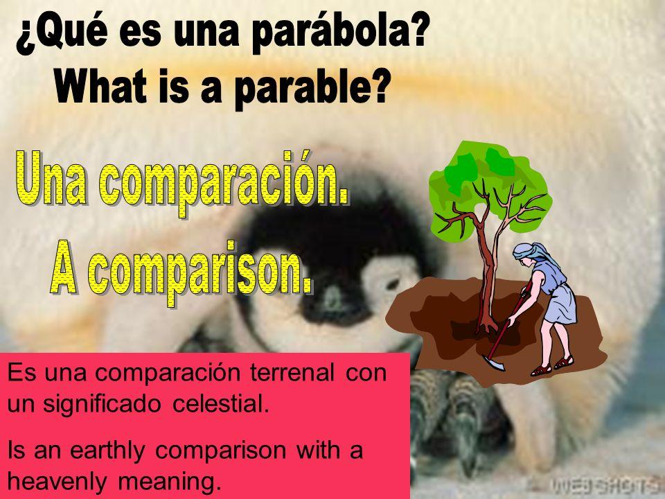 Es una comparación terrenal con un significado celestial.