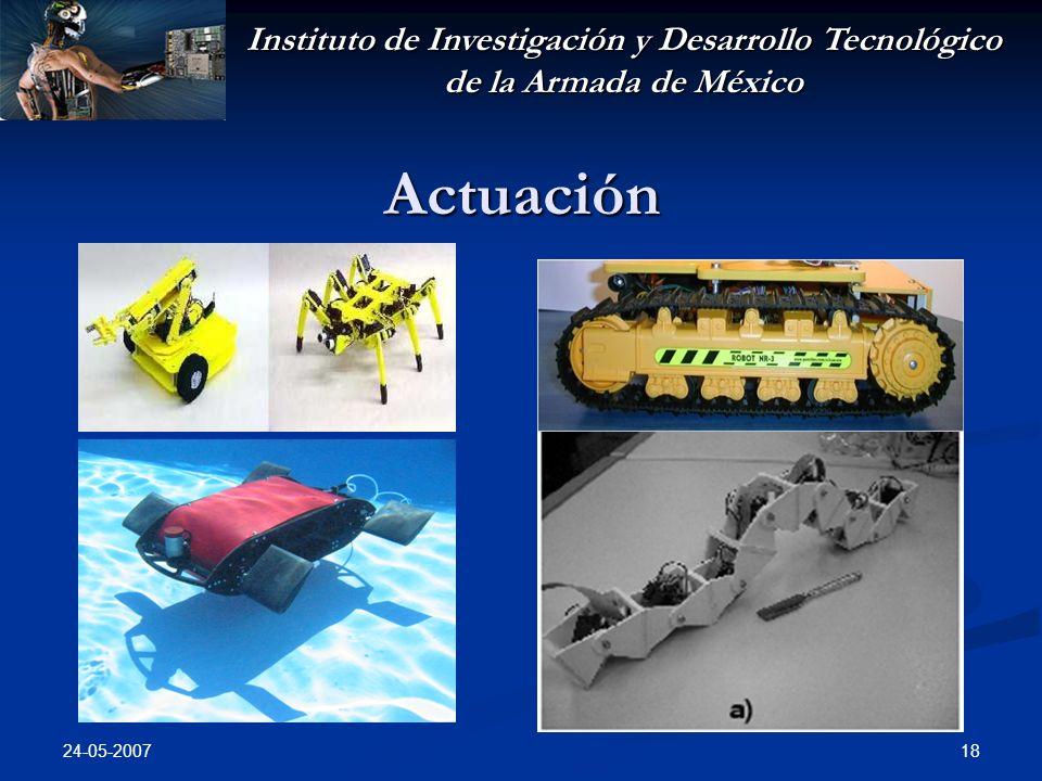 Instituto de Investigación y Desarrollo Tecnológico de la Armada de México 24-05-2007 18 Actuación