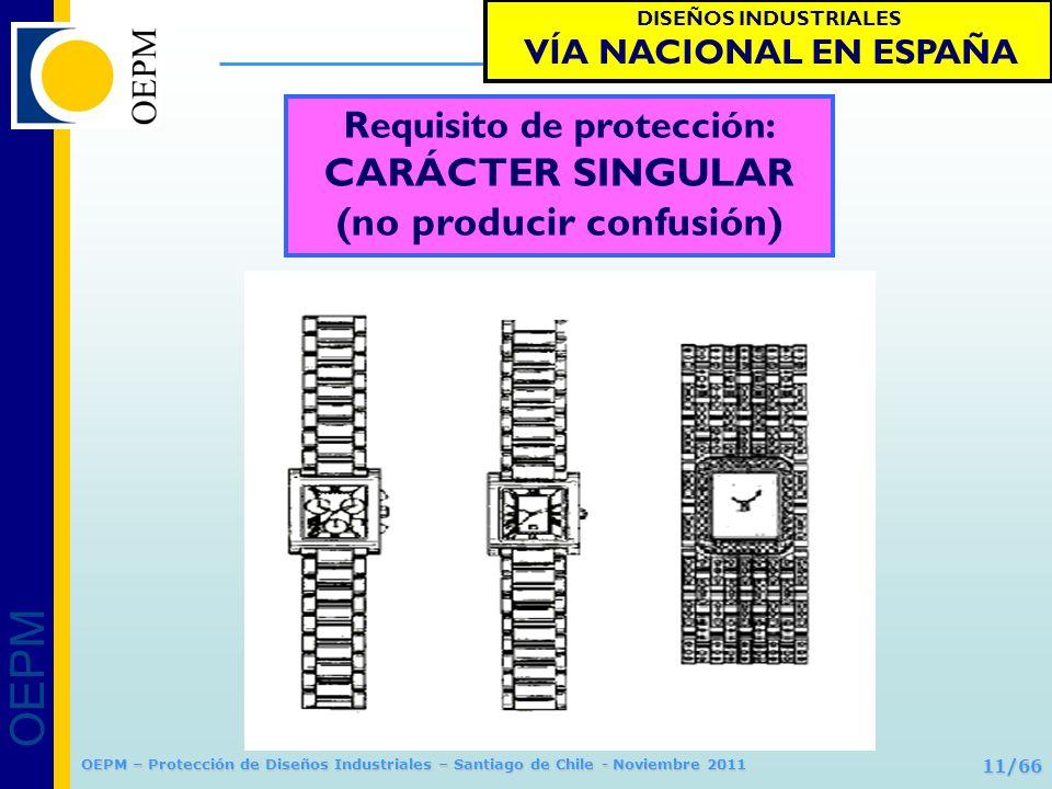 OEPM 11/66 Protección de Diseños Industriales OEPM – Protección de Diseños Industriales – Santiago de Chile - Noviembre 2011 Requisito de protección: