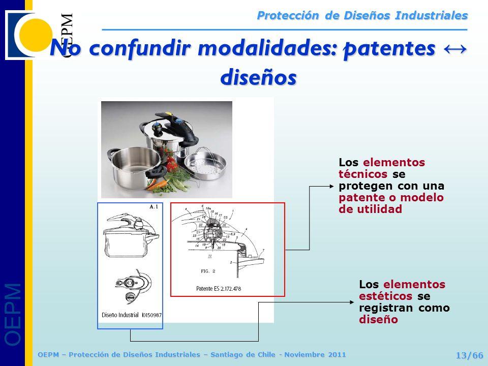 OEPM 13/66 Protección de Diseños Industriales OEPM – Protección de Diseños Industriales – Santiago de Chile - Noviembre 2011 Los elementos técnicos se