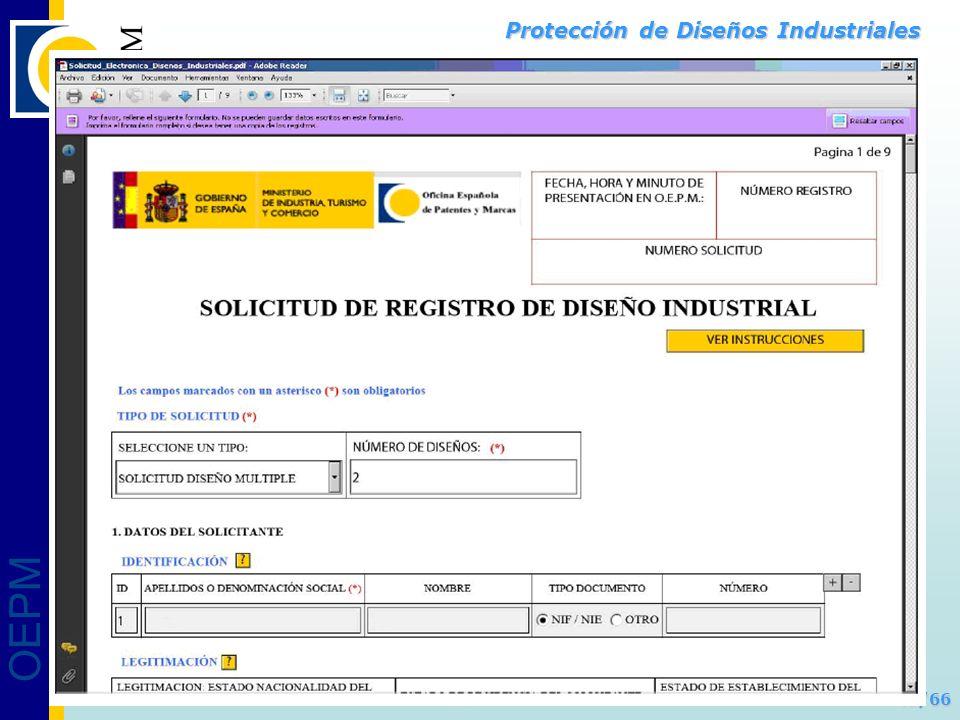 OEPM 45/66 Protección de Diseños Industriales OEPM – Protección de Diseños Industriales – Santiago de Chile - Noviembre 2011
