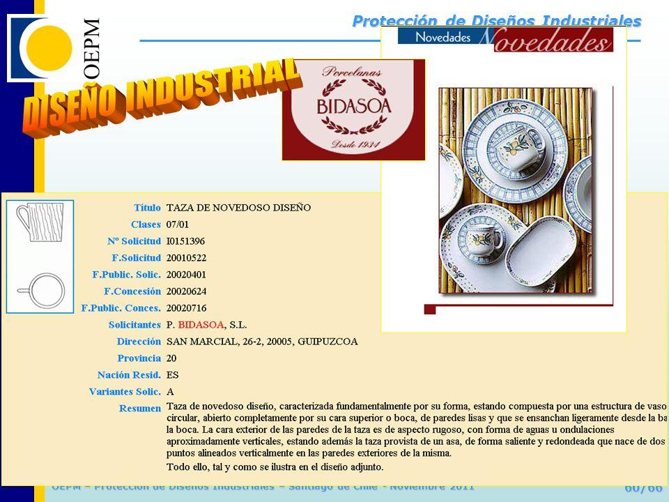 OEPM 60/66 Protección de Diseños Industriales OEPM – Protección de Diseños Industriales – Santiago de Chile - Noviembre 2011