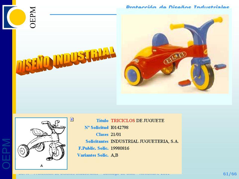 OEPM 61/66 Protección de Diseños Industriales OEPM – Protección de Diseños Industriales – Santiago de Chile - Noviembre 2011