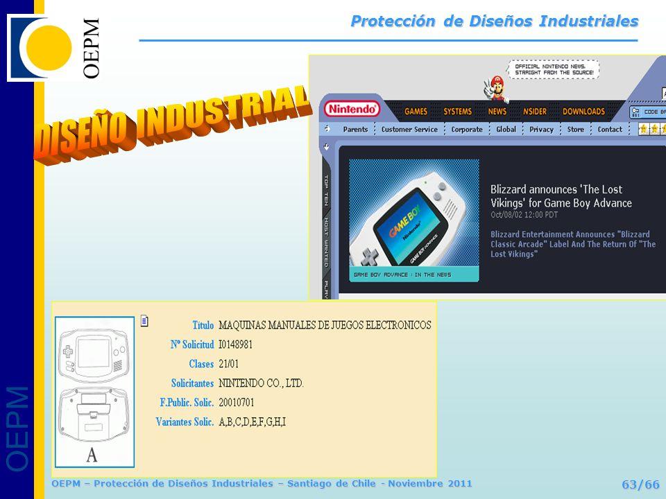 OEPM 63/66 Protección de Diseños Industriales OEPM – Protección de Diseños Industriales – Santiago de Chile - Noviembre 2011