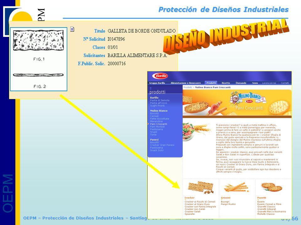OEPM 64/66 Protección de Diseños Industriales OEPM – Protección de Diseños Industriales – Santiago de Chile - Noviembre 2011