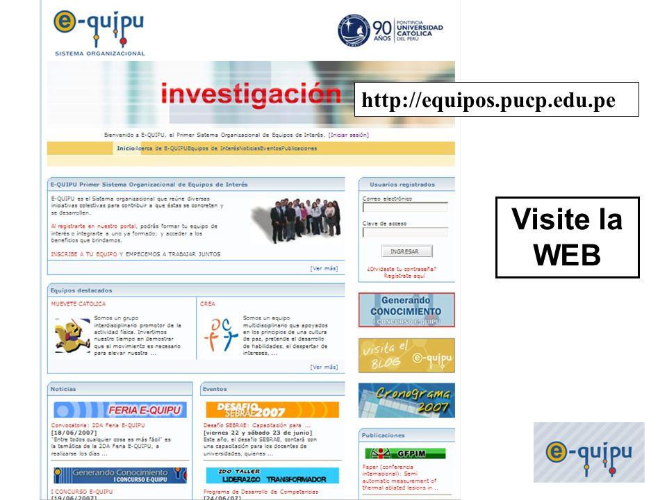 36 http://equipos.pucp.edu.pe Visite la WEB