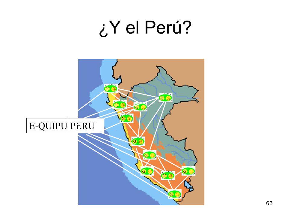 63 ¿Y el Perú? E-QUIPU PERU