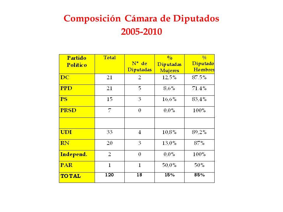 Composición Cámara de Diputados 2005-2010
