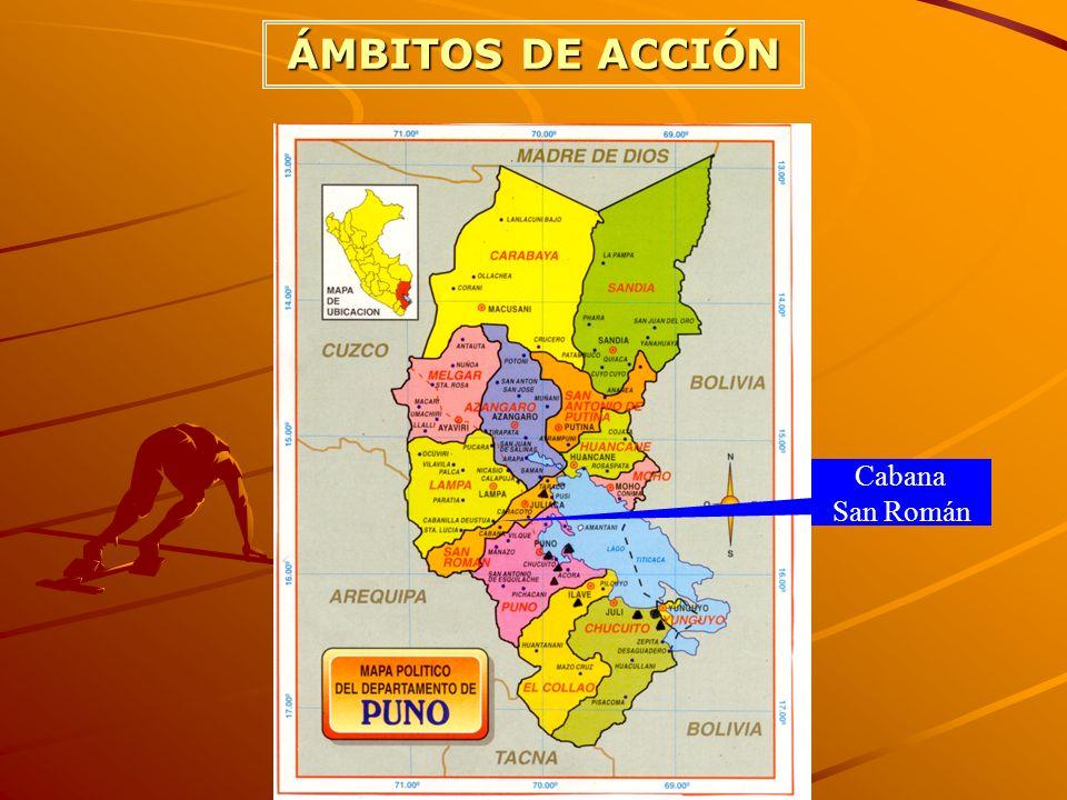 ÁMBITOS DE ACCIÓN Cabana San Román
