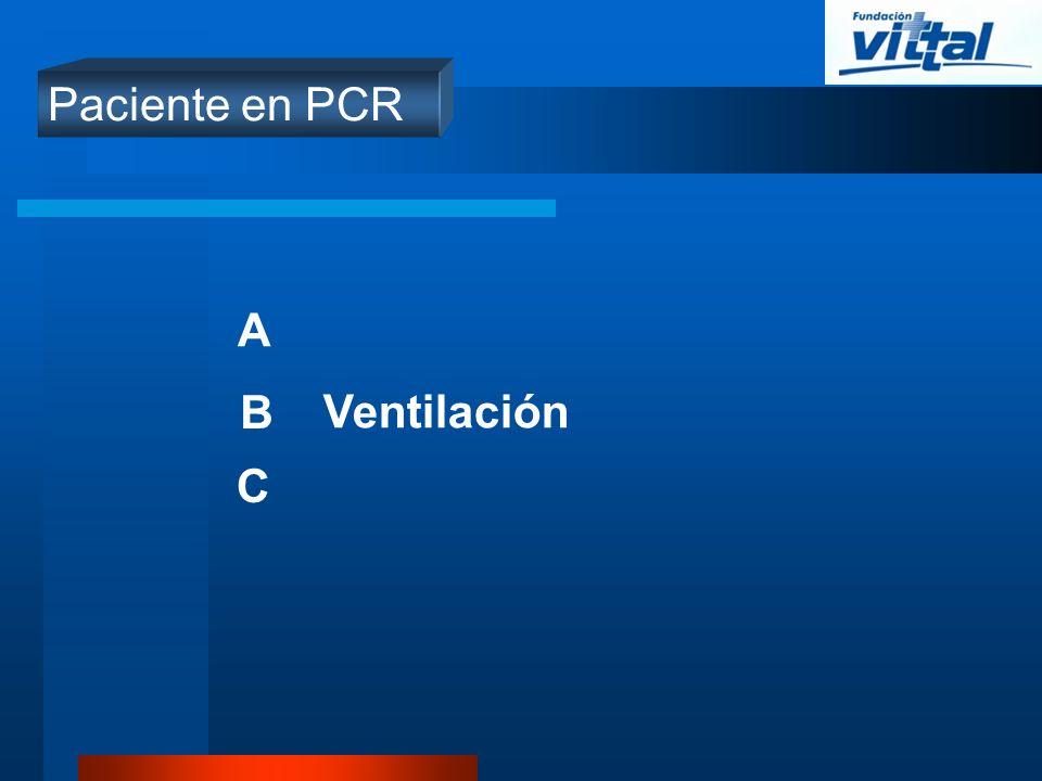 A B C Ventilación Paciente en PCR
