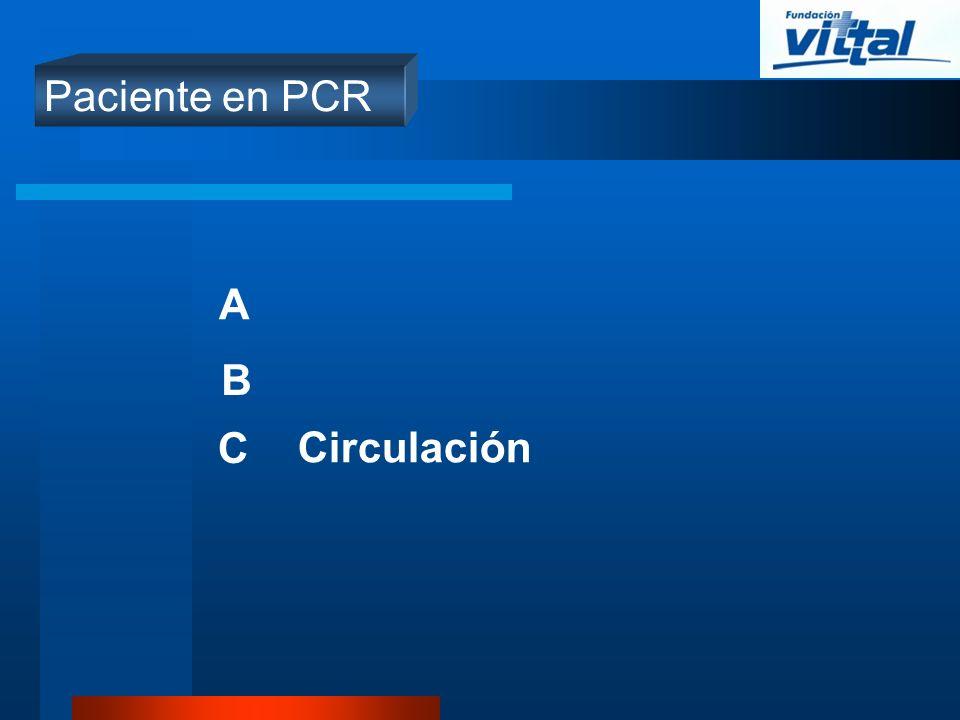 A B C Circulación Paciente en PCR