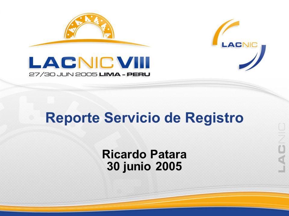 Reporte Servicio de Registro Ricardo Patara 30 junio 2005