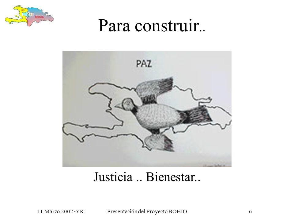 11 Marzo 2002 -YKPresentación del Proyecto BOHIO5 Porque, al igual que los primeros habitantes de la isla, creemos que: Trabajando juntos aprenderemos